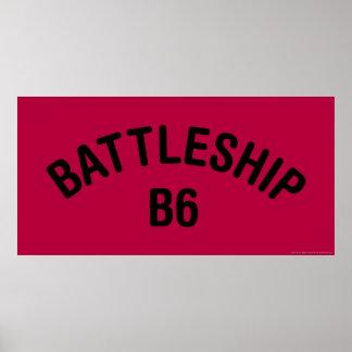 Battleship B6 Logo Poster