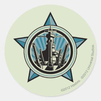 Battleship B7 Classic Round Sticker