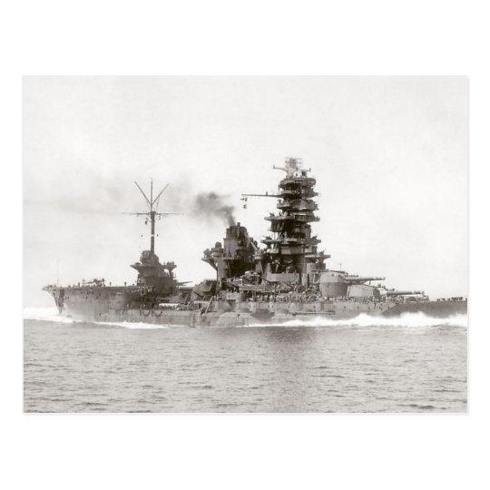 Battleship-Carrier Hyuga Postcard