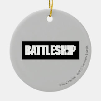 Battleship Dark Christmas Ornament