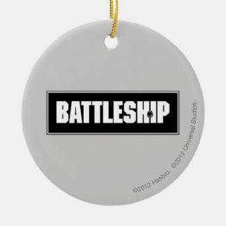 Battleship Dark Round Ceramic Decoration