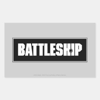 Battleship Dark Rectangular Stickers