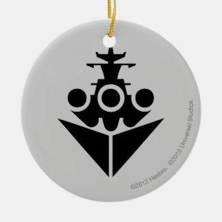 Battleship Icon Christmas Ornament