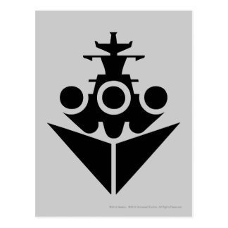 Battleship Icon Postcard
