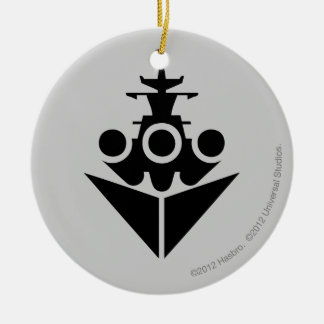 Battleship Icon Round Ceramic Decoration