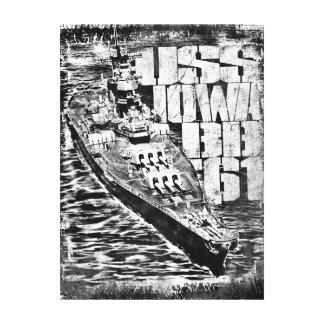 Battleship Iowa Premium Wrapped Canvas (Gloss)