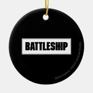 Battleship Light Christmas Ornament