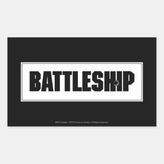Battleship Light Rectangular Sticker