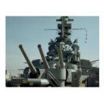 Battleship Massachusetts Photo Postcard