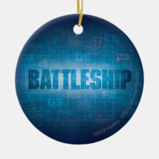 Battleship Naval 2 Round Ceramic Decoration