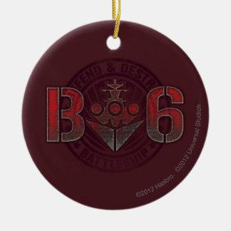 Battleship Naval 8 Christmas Ornament