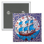 Battleship Pattern / Tile Art 15 Cm Square Badge