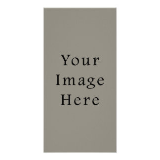 Battleship Steel Gray Color Grey Trend Template Photo Cards