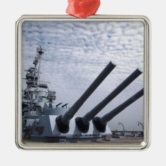 Battleship USS Alabama Christmas Ornament