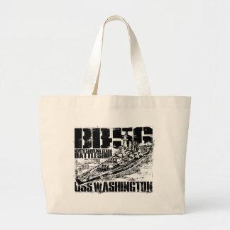 Battleship Washington Large Tote Bag