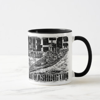 Battleship Washington Ringer Mug