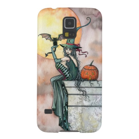 Batty Cat Halloween Witch Fantasy Art Galaxy S5