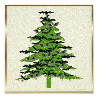 Batty Christmas Tree 13 Cm X 13 Cm Square Invitation Card
