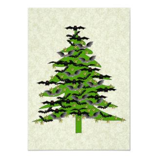 Batty Christmas Tree 13 Cm X 18 Cm Invitation Card