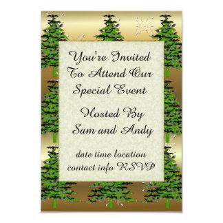 Batty Christmas Tree 9 Cm X 13 Cm Invitation Card