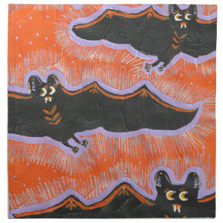 Batty Flight Halloween Cloth Napkin