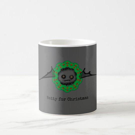 BATTY FOR CHRISTMAS Cute Vampire Bat Coffee Mug