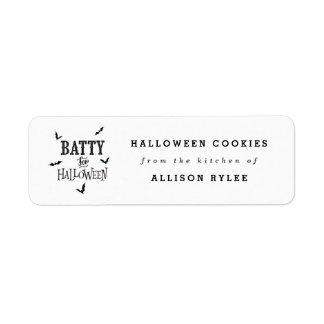Batty For Halloween Baking Labels