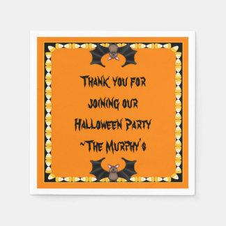 Batty Halloween Paper Napkins Disposable Napkin