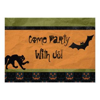 Batty Halloween Party Custom Invitations