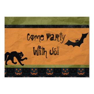 Batty Halloween Party Custom Personalized 13 Cm X 18 Cm Invitation Card