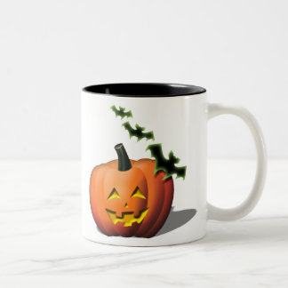Batty-Jackolantern Mugs