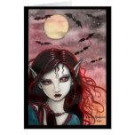 Batty Night Vampire Fairy Card by Molly Harrison