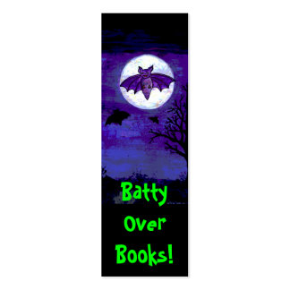 Batty Over Books! Bookmark Pack Of Skinny Business Cards
