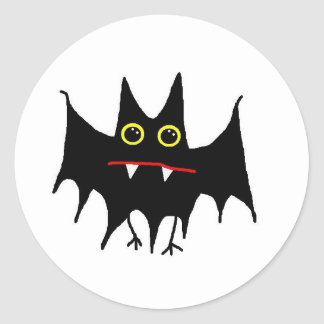 BattyBat Round Sticker