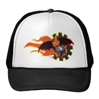 batwing skullie trucker hat