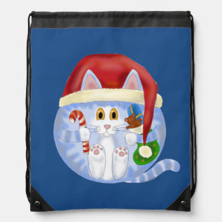 Bauble Cat Christmas Backpack