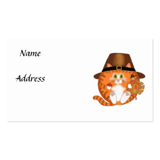 Bauble Cat Thanksgiving Pack Of Standard Business Cards