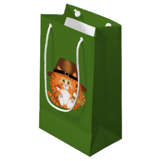 Bauble Cat Thanksgiving Small Gift Bag