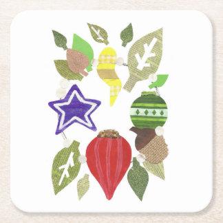 Bauble Wreath Paper Coaster