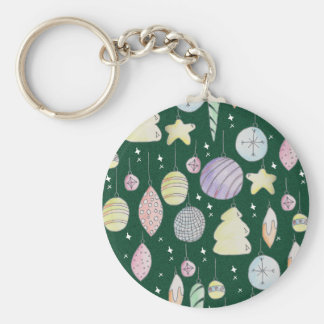 baubles basic round button key ring