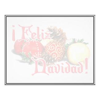 Baubles Pine Cones - Feliz Navidad Flyer Design