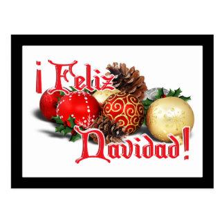 Baubles & Pine Cones - Feliz Navidad Postcards