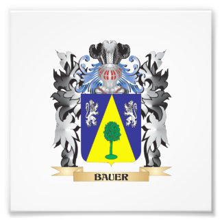 Bauer Coat of Arms - Family Crest Photo Art