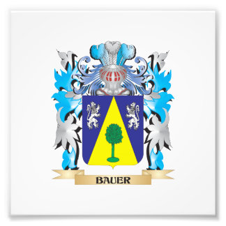Bauer Coat of Arms Photo Art