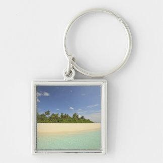 Baughagello Island, South Huvadhoo Atoll, 2 Silver-Colored Square Key Ring