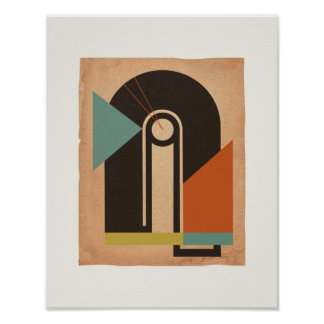 Bauhaus Abstract #2 Poster