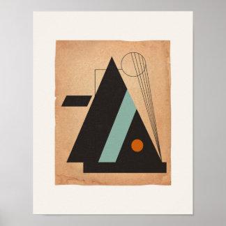 Bauhaus Abstract #3 Poster