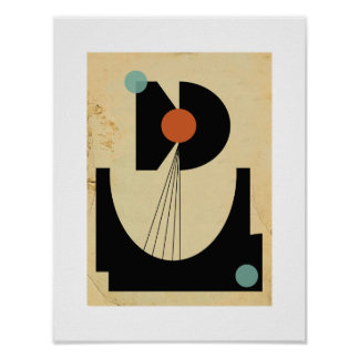 Bauhaus Abstract #6 Original Poster