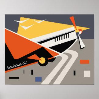 bauhaus airline travel poster