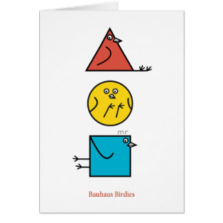 Bauhaus Birdies Card